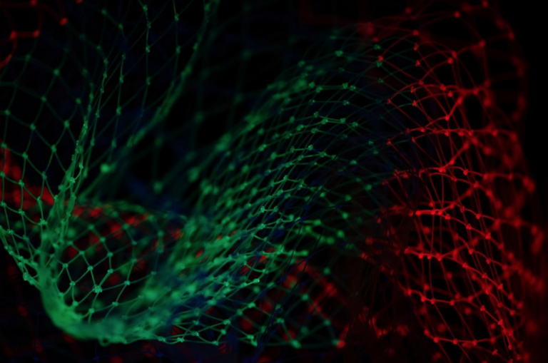 Colorful data management visualization